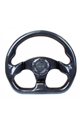 NRG Carbon Fibre Steering Wheel Flat