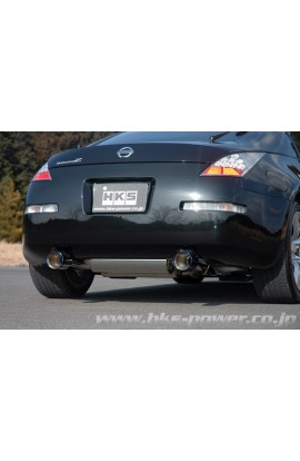 HKS Full Dual Exhaust System Ti-Tip 350Z