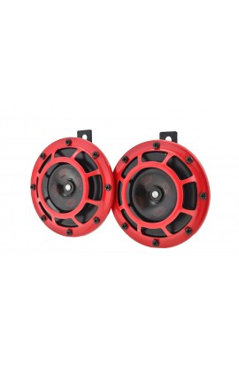 Hella Supertone Horn Kit 12V 300/500HZ Red