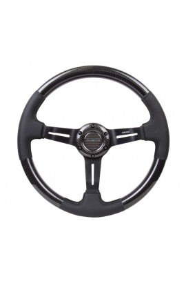 NRG Carbon Fibre Steering Wheel Round