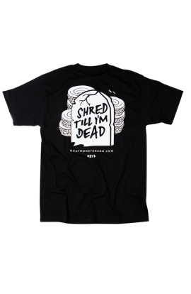 What Monsters Do Shred Dead Black Tee